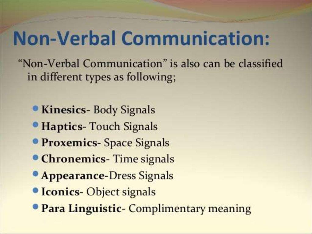 verbal  u0026 non verbal communication