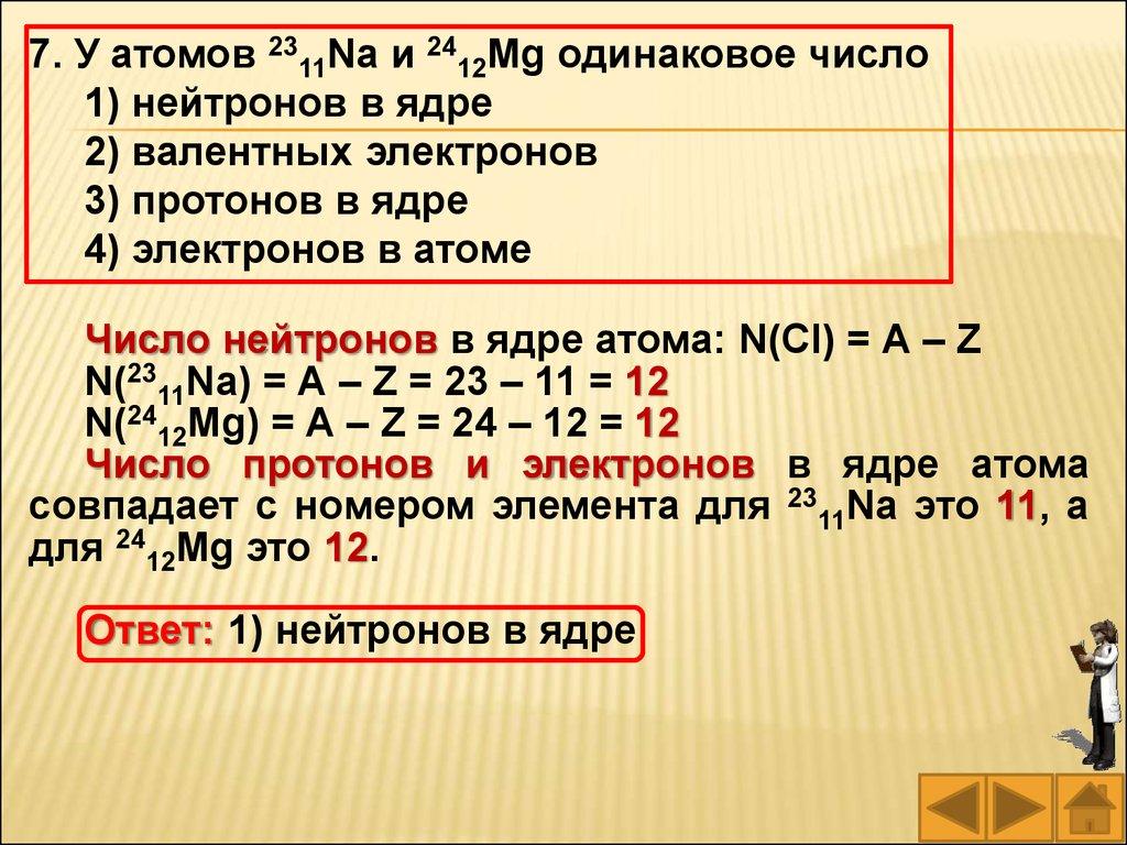 электронная схема атома ci
