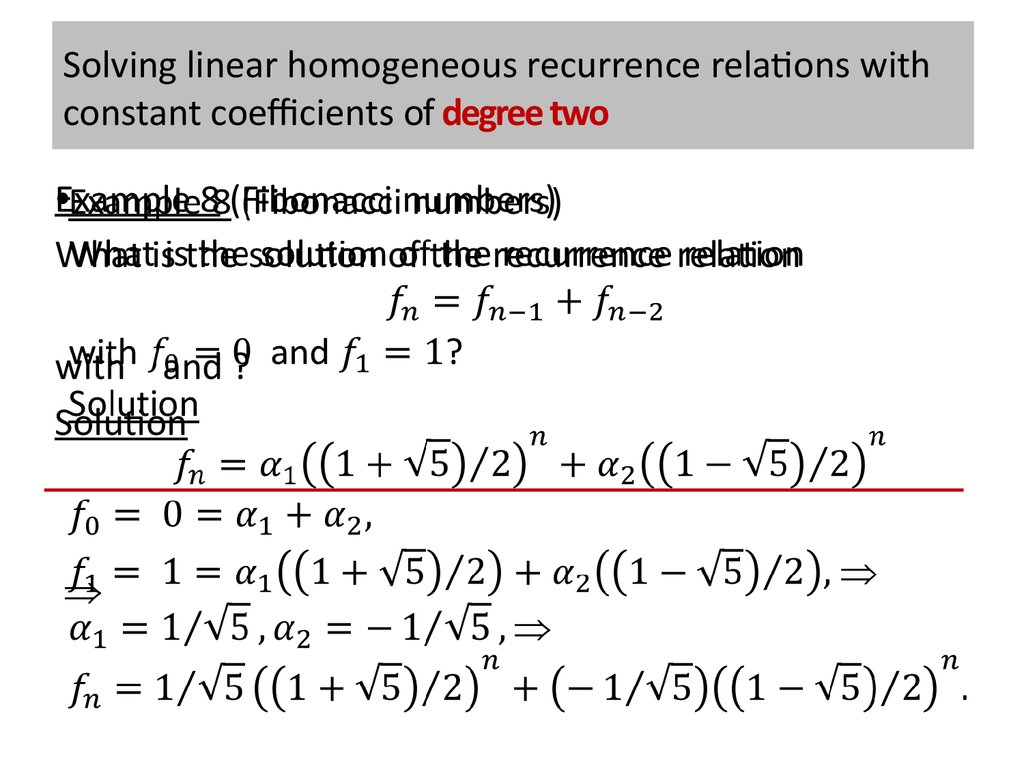 meaning of recurrence relationship