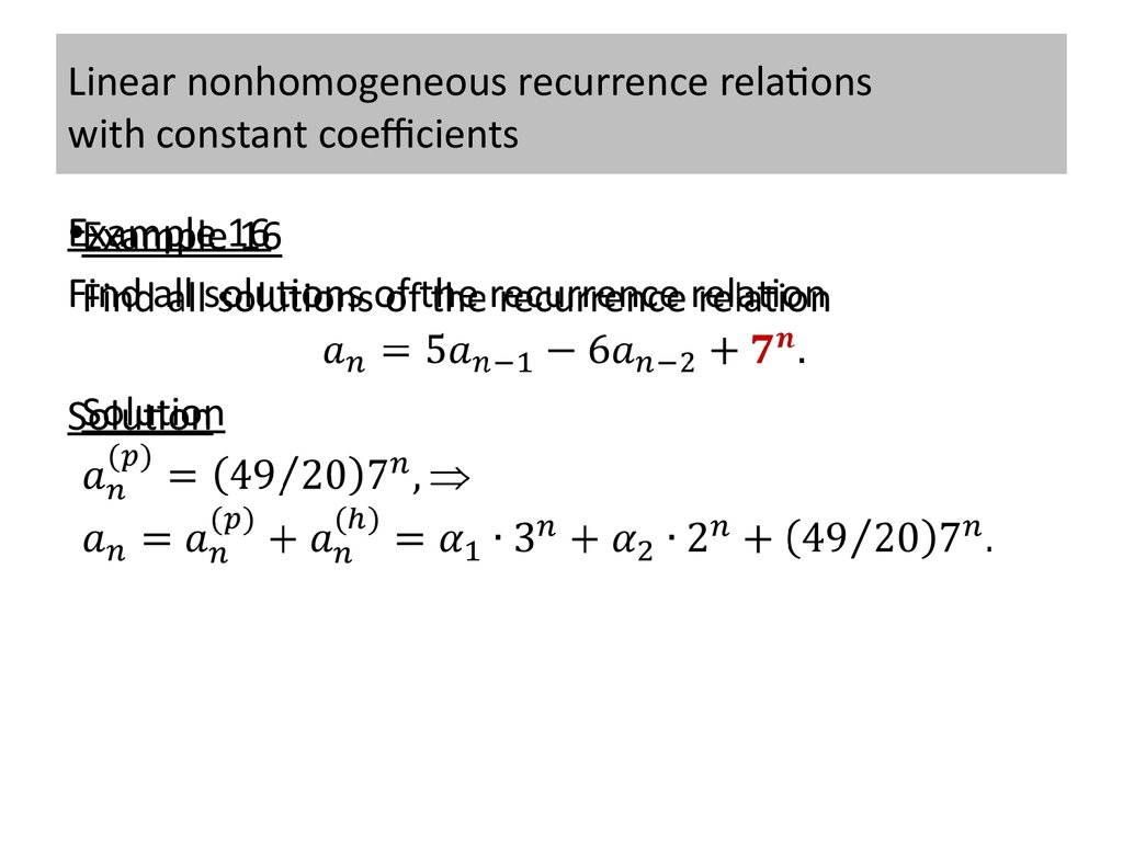 solving recurrence relations using generating functions pdf