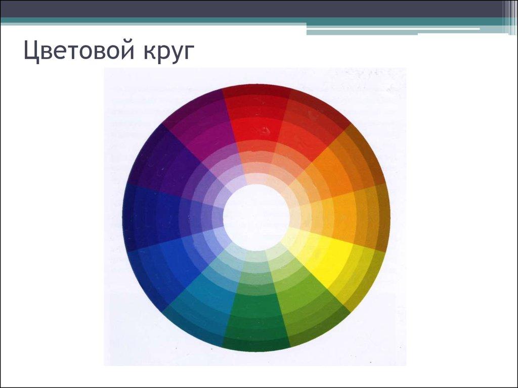 Цвет цветовая гармония цветовой круг