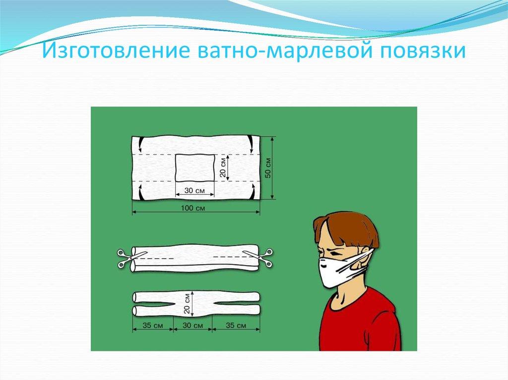 Как сшить марлевую повязку для ребенка в садик 190