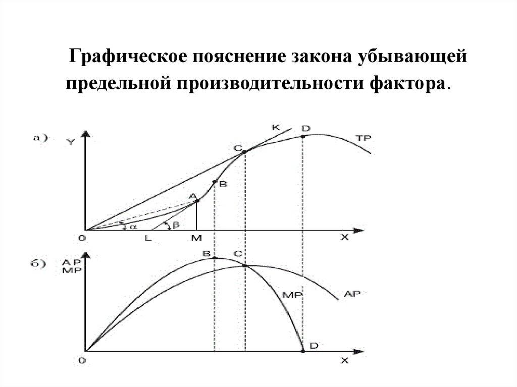 Закон убывающей предельной производительности (закон убывающей эффективности)