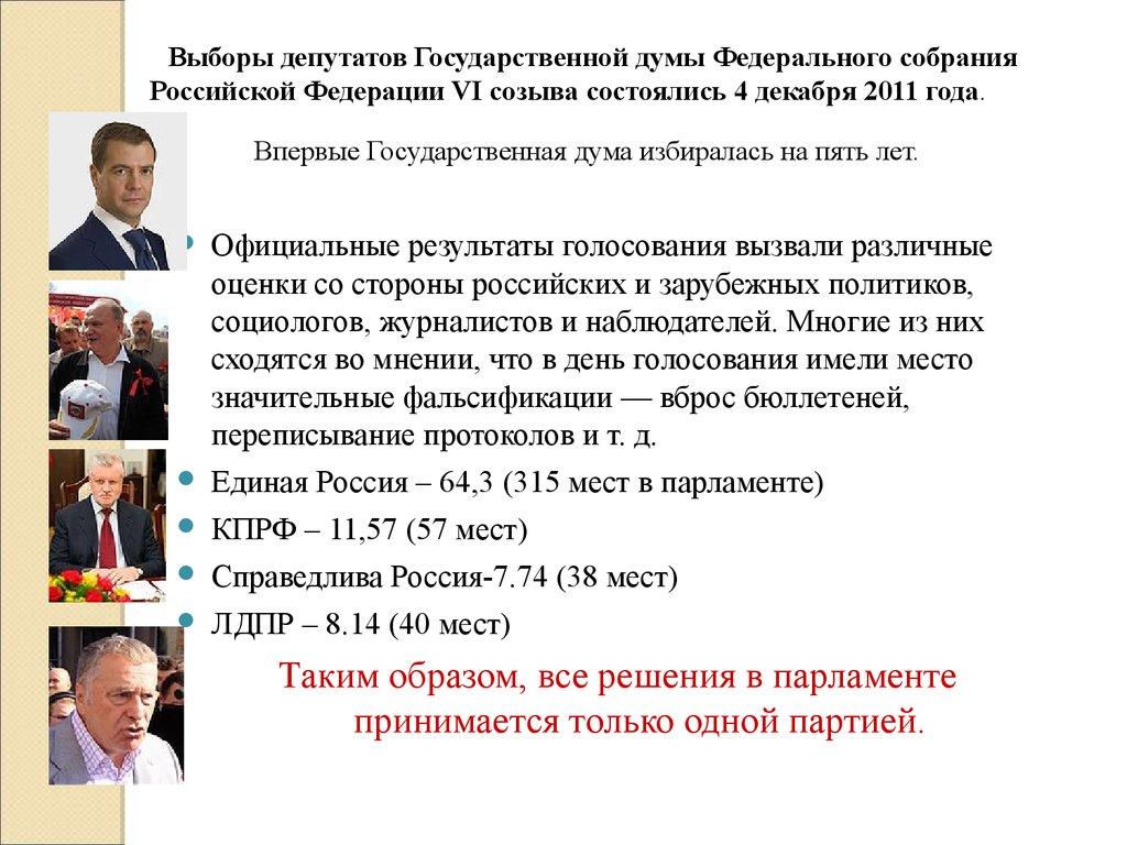 Фотогалерея: политика  выборы депутатов государственной думы шестого созыва 4 декабря 2011 года