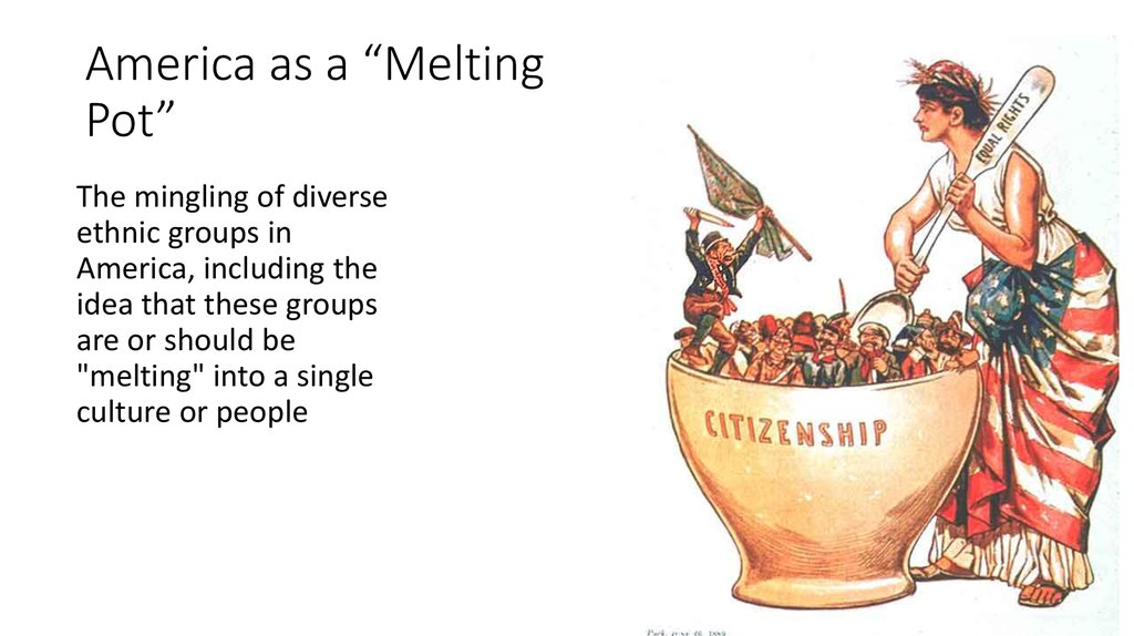 the great american melting pot essay A look at the democratic recipe that built america.