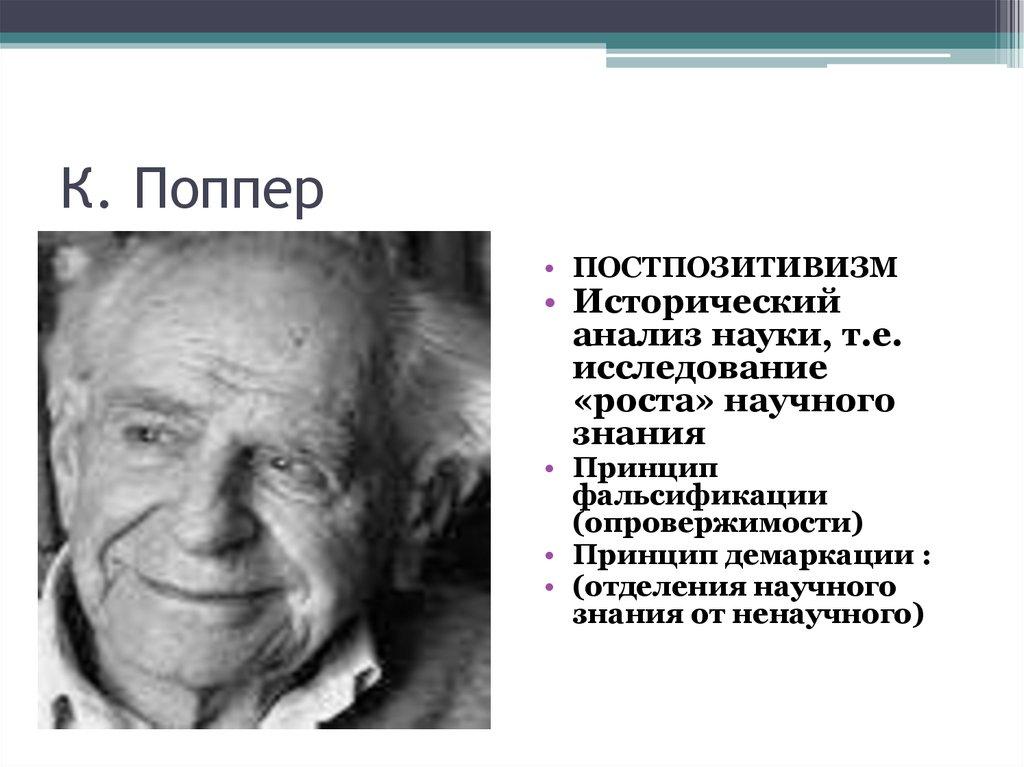 поппер к. философия оракулов и восстание против разума