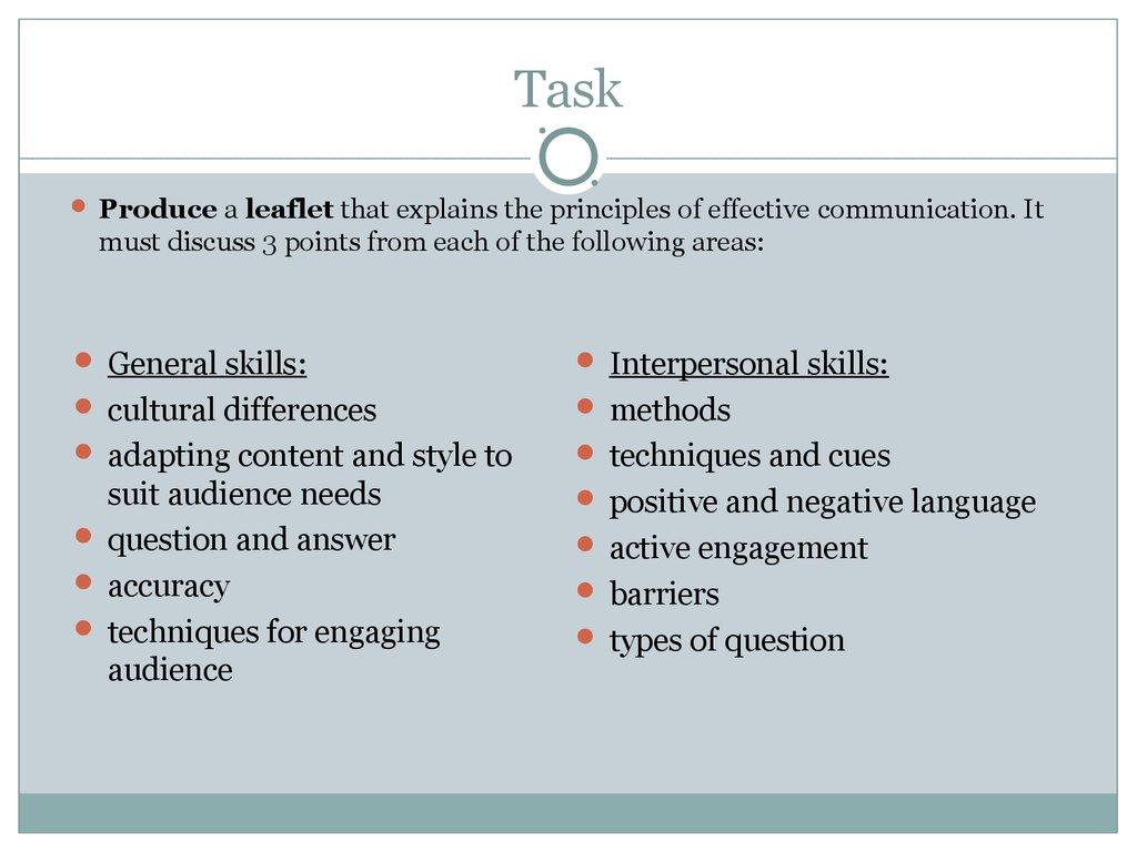 barriers to communication interpersonal skills презентация онлайн communication activity 2 statements task