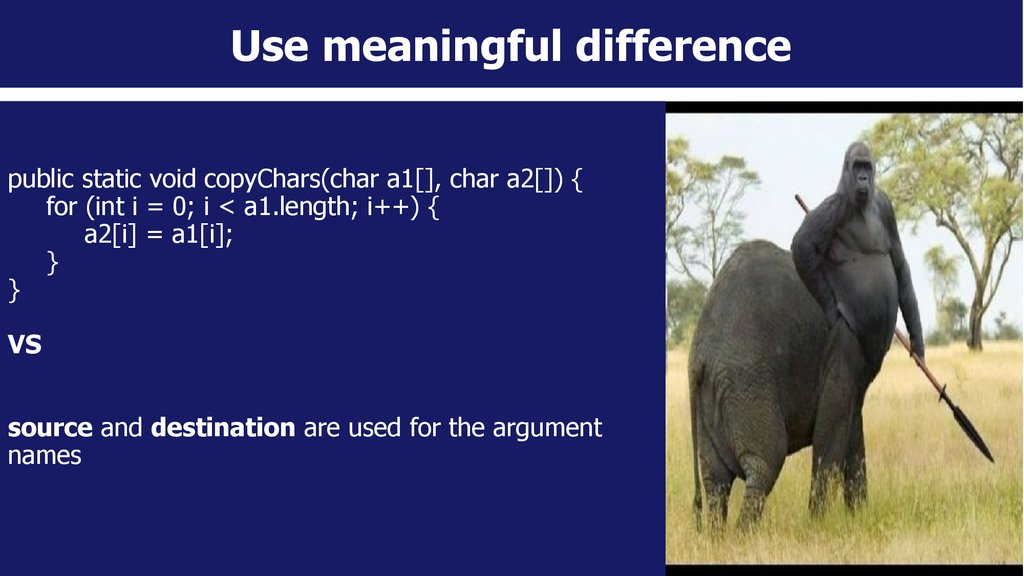 Use meaningful difference