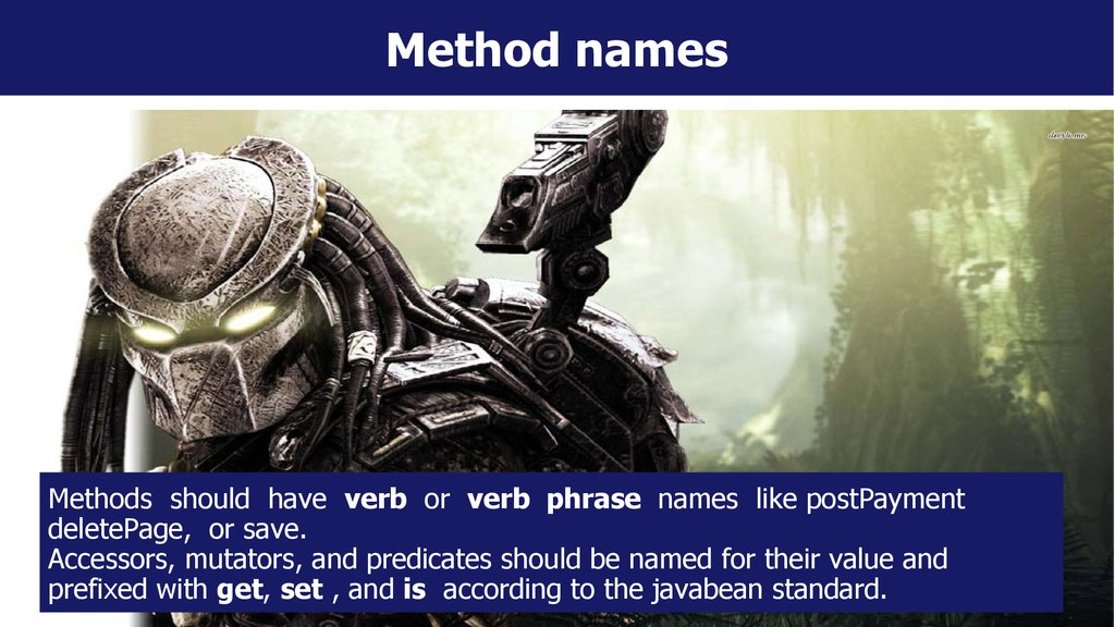 Method names