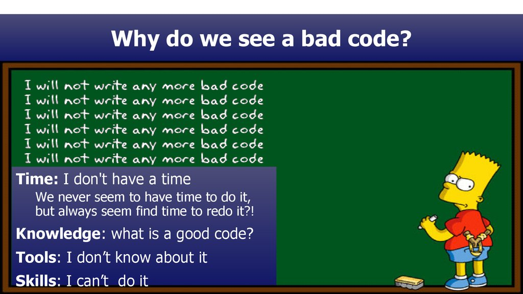 Why do we see a bad code?
