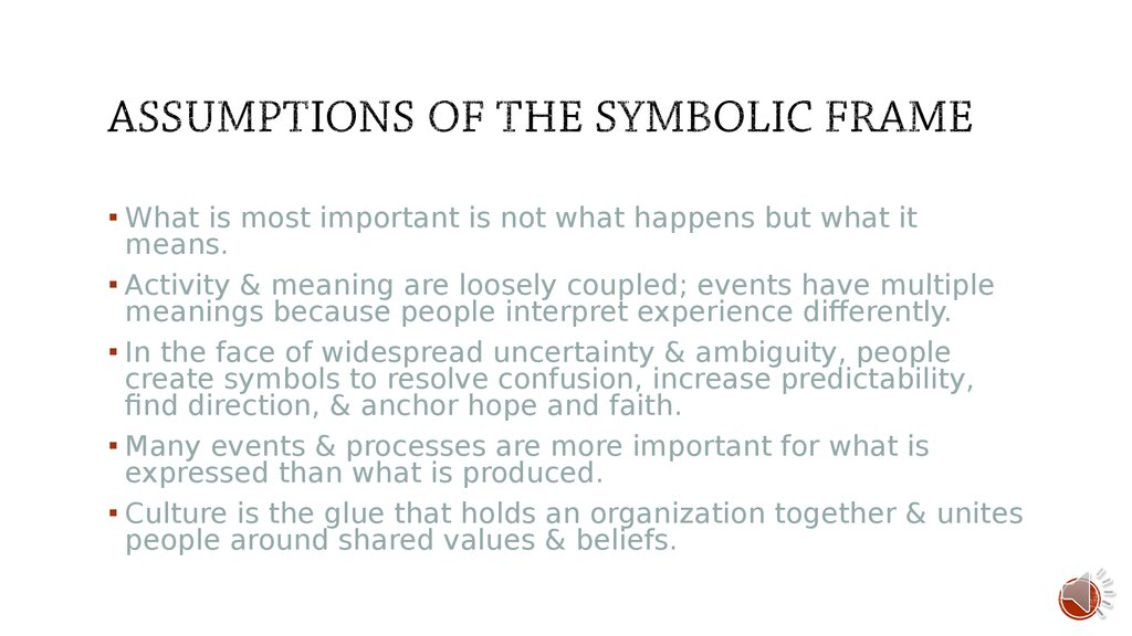 symbolic frame Essays - largest database of quality sample essays and research papers on symbolic frame.