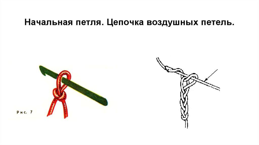 Начало вязания крючком без воздушных петель 10