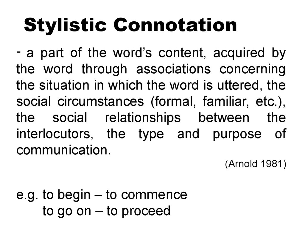 Stylistic Connotation