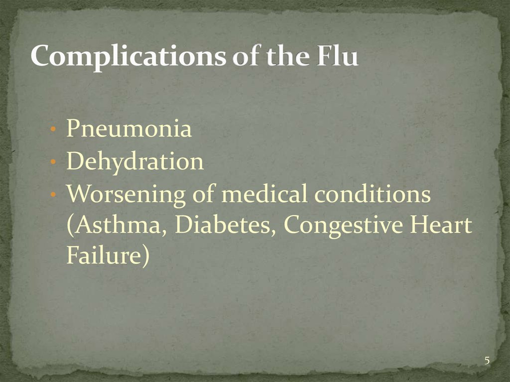 influenza  flu  management presentation