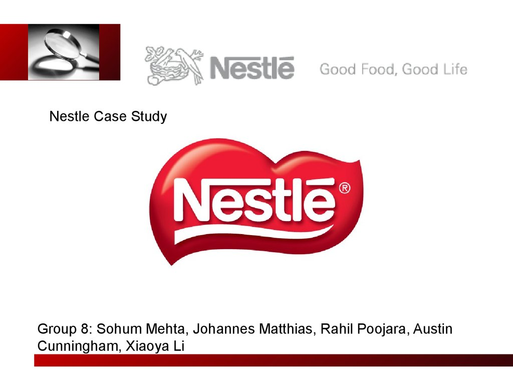 a nestle case study Nestlé case study  nestle's malaria prevention programme health and work has helped reduce sickness absenteeism from 12% to 4% in its first year.