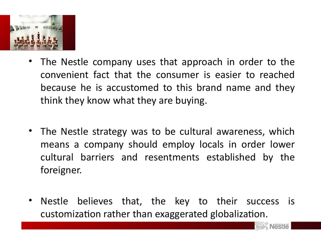 international marketing case study nestle Nestle sa: international marketing (a) facts of the case: nestle is known to be one of the companies with having largest foods and nutrition in the world.