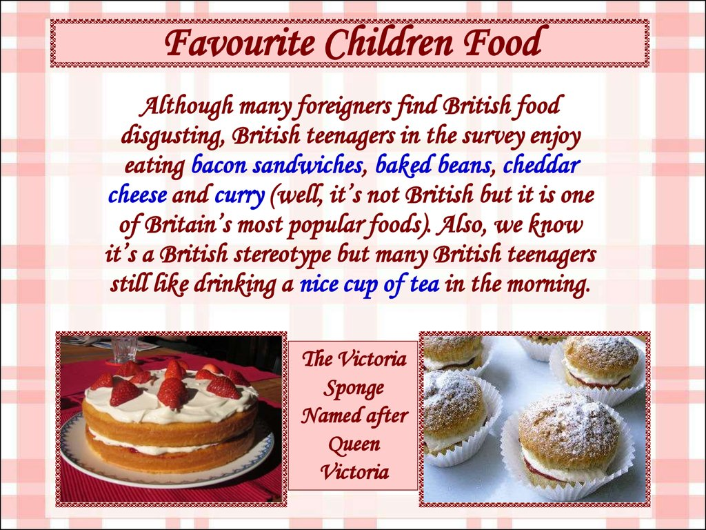 Favourite Children Food