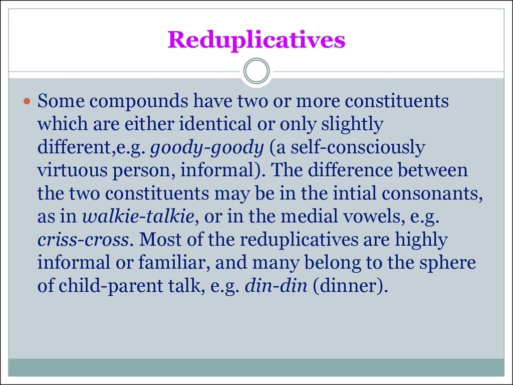Reduplicatives