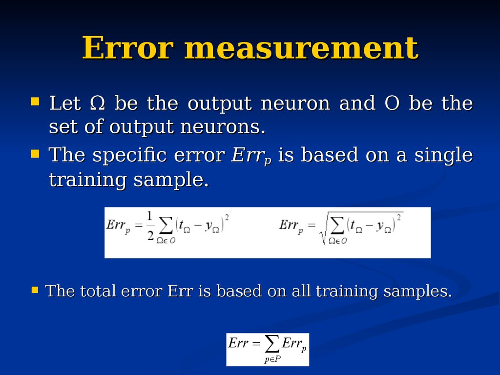 Error measurement