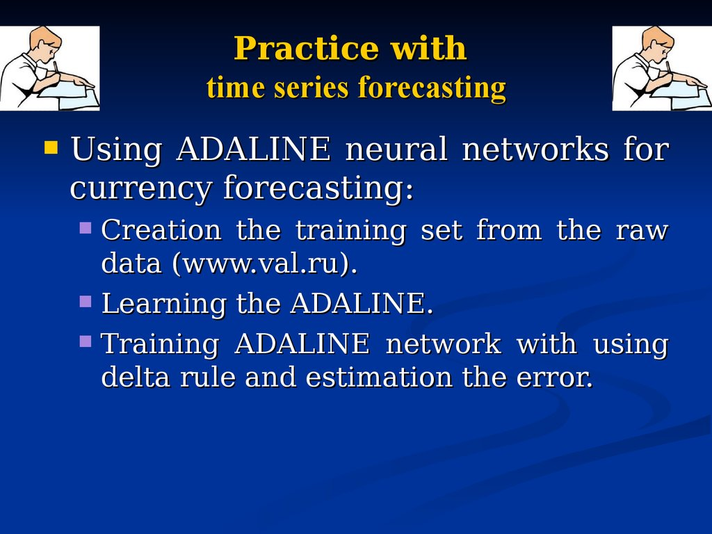 Practice with time series forecasting