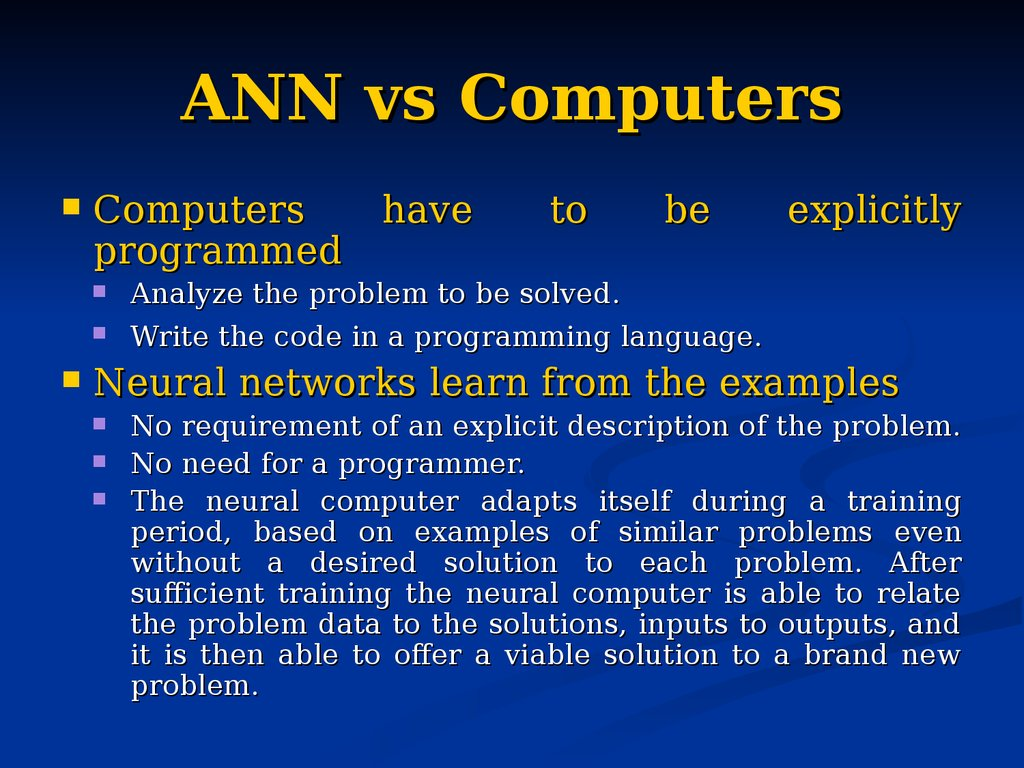 ANN vs Computers