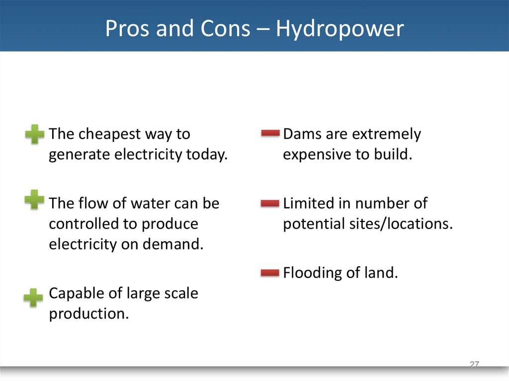 Hydroelectric Energy (Power) Pros and Cons