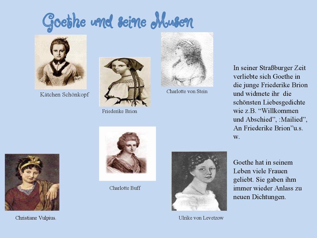 Goethe Lebenslauf Kurz. 6