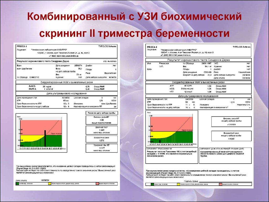 Биохимический скрининг беременных 1-го триместра 54