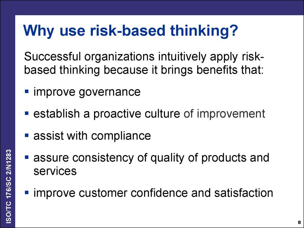 Iso 9001 2015 Risk Based Thinking Online Presentation