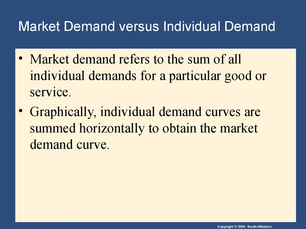 Example of Economists use the term demand to refer to quizlet