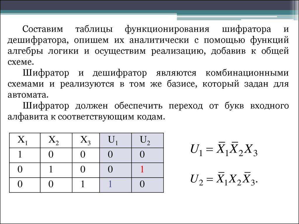 матричная схема дешифратора