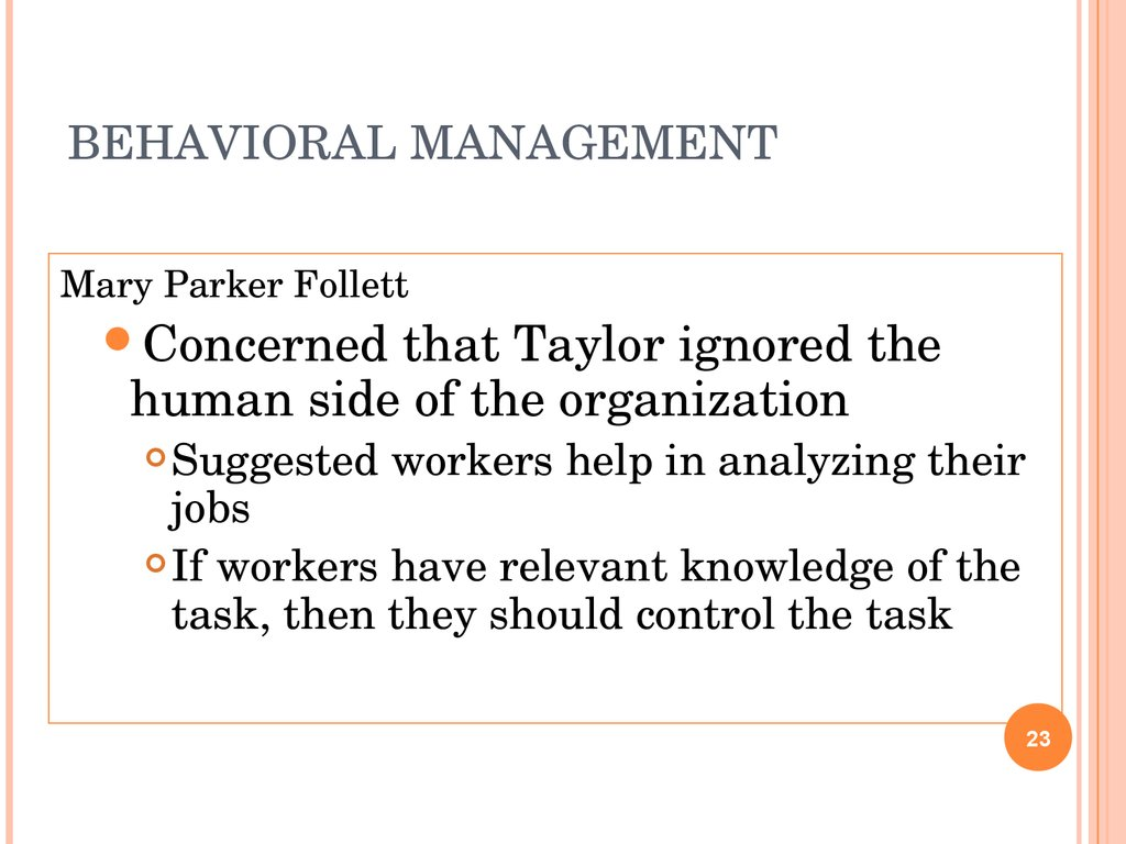 Evolution of Management Systems