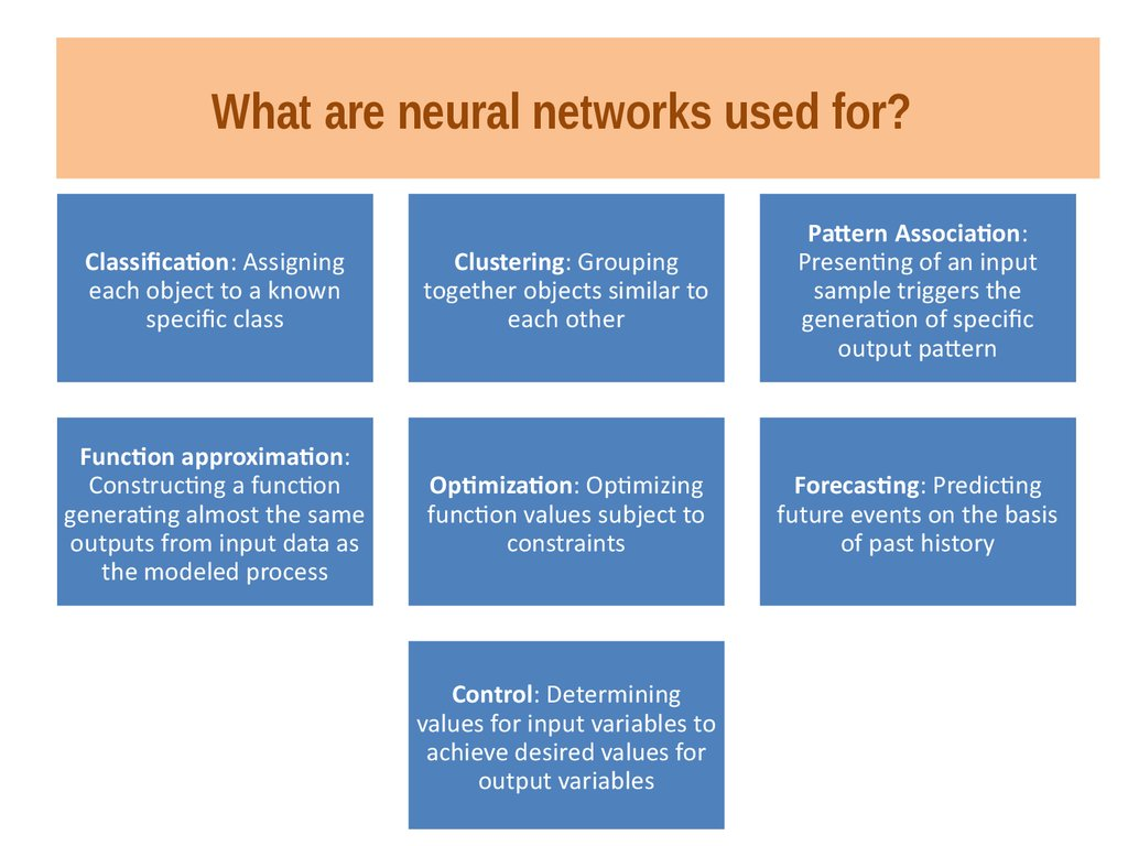 the main characteristics of neural networks What is the best use of neural networks what is the major difference between machine learning and artificial neural networks courses both courses have almost the same contents biological immune mechanism and the characteristics of evolution.