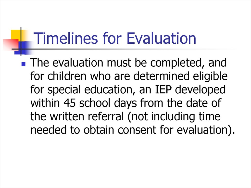 an evaluation of the children at victory elementary school on individualized education program iep The iep process explained  it makes sense that the individualized education program (iep), or sometimes called individual education plan, process was intended to .