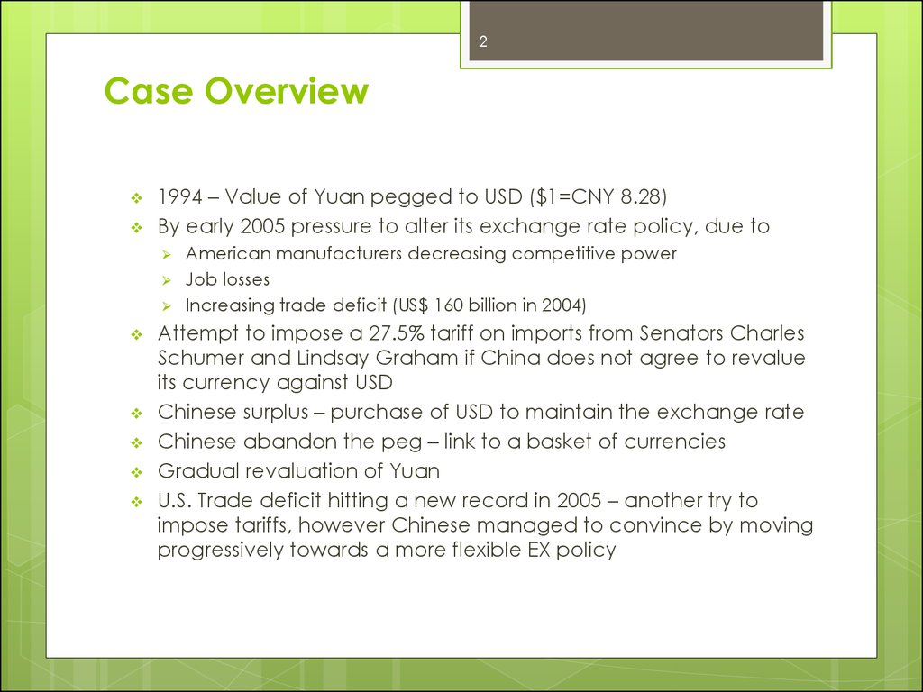 chinas managed float case study Doing business in china can be good for businesses if foreign exchange  currency  in this case, it may be worth exploring an offshore bank account  domiciled in  the offshore rmb, known as the cnh, floats freely against world  currencies and  according to the latest bis triennial survey5, average daily  turnover on the.