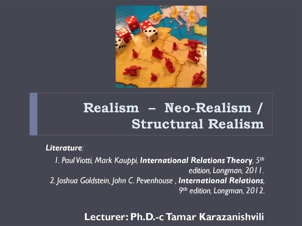 realism and neo realism in international relations Classical realism vs neo-realism  a discipline of international relations is at last beginning to emerge which is devoted to behavioural studies in ir.