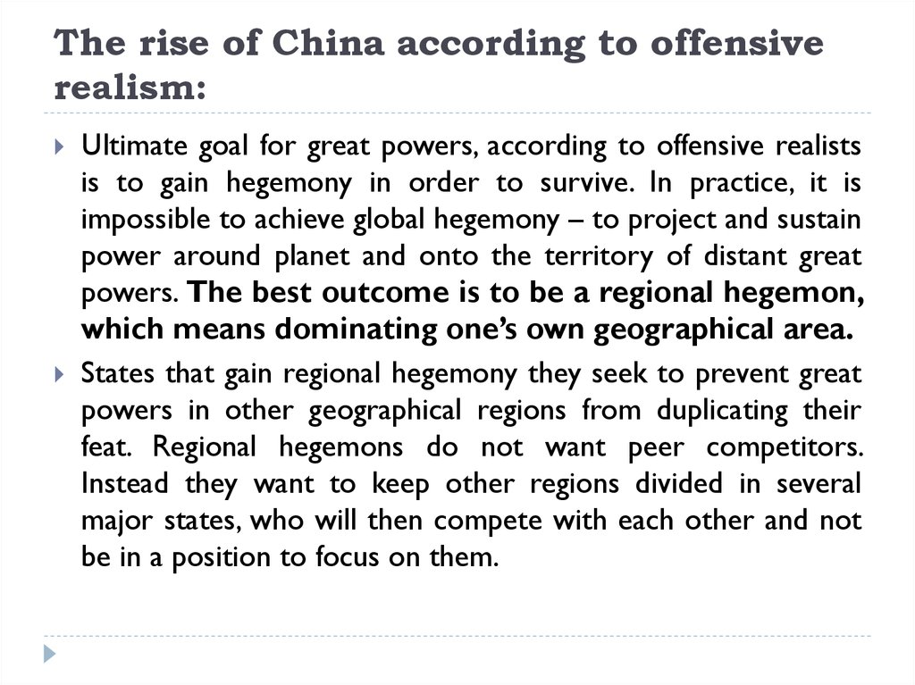 according to neo realists why do states Neorealism or structural realism is a theory of international relations that says power is the most important factor in international relations it was first outlined by kenneth waltz in his 1979 book theory of international politics  [1.