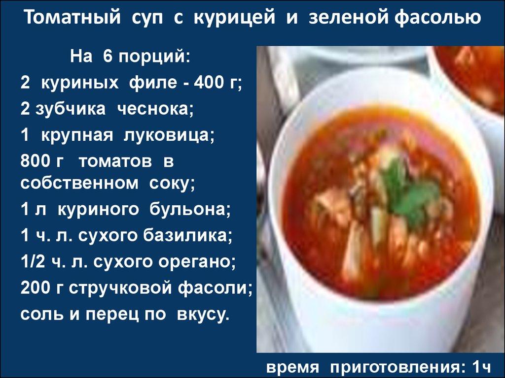суп куриный с фасолью рецепты фото