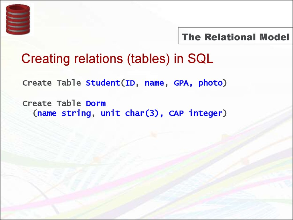 the description of the relational databases in database management systems Relational database databases  tables used in our database sample table id number description price quantity in stock  to mis- database management systems.