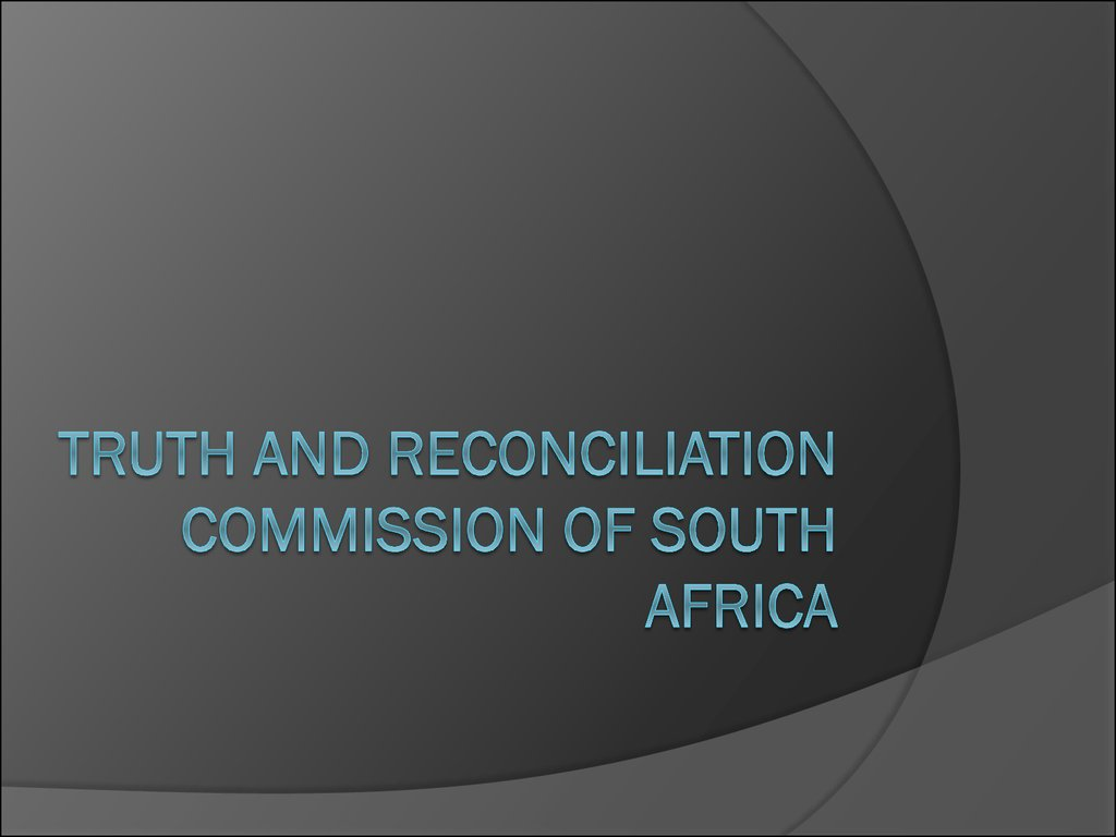 truth and reconciliation commission The truth and reconciliation commission handed its final report on august  28th at 12:40 pm during a ceremony in the palace of government the president .