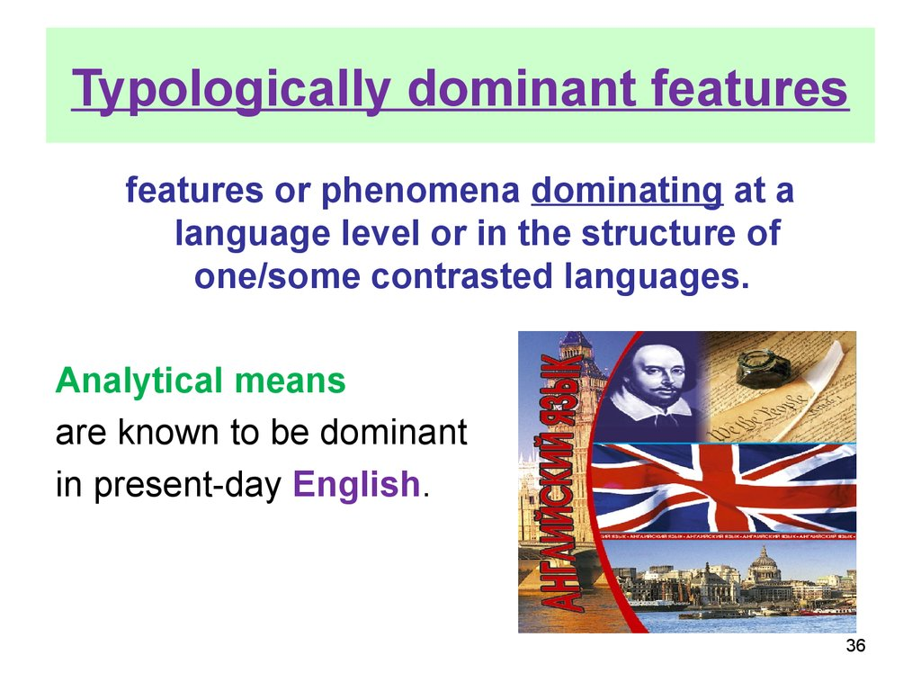 Typologically dominant features