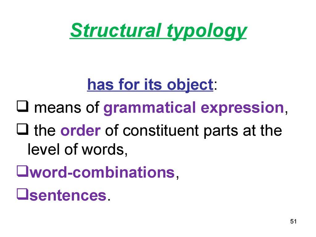 Structural typology
