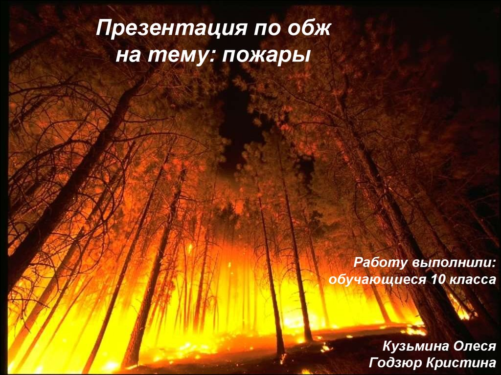 презентация по обж пожары и взрывы их характеристика