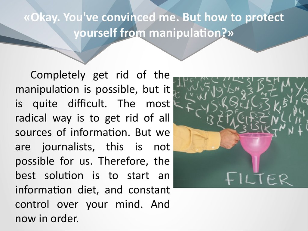 What are the tactics of media manipulation? - Quora  Mass Manipulation Techniques
