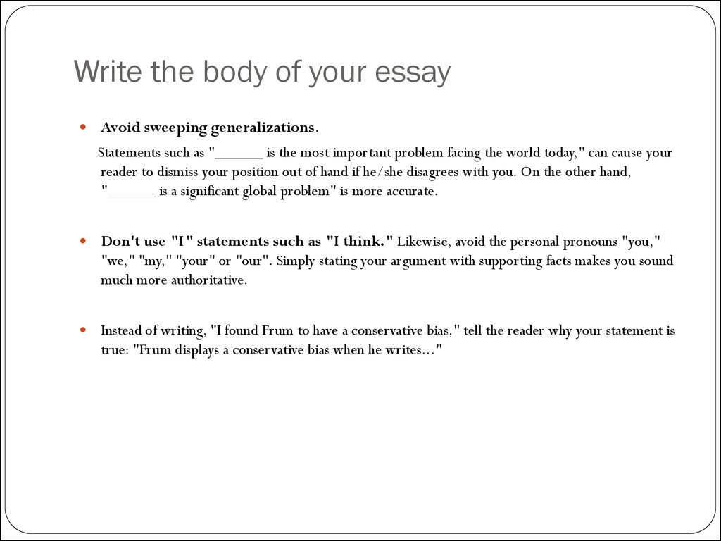 how to write an essay 1087 1088 1077 1079 1077 1085 1090 1072 1094 1080 1103 1086 1085 1083 1072 1081 1085  write the body of your essay