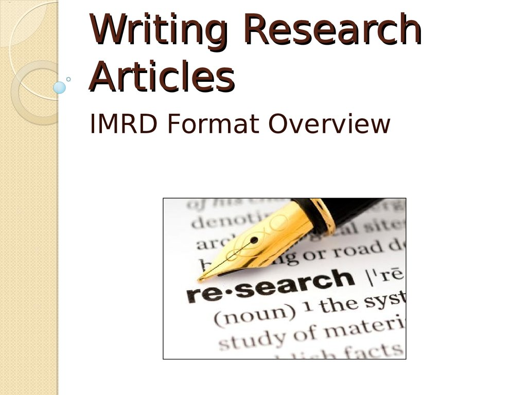Types of Research Articles