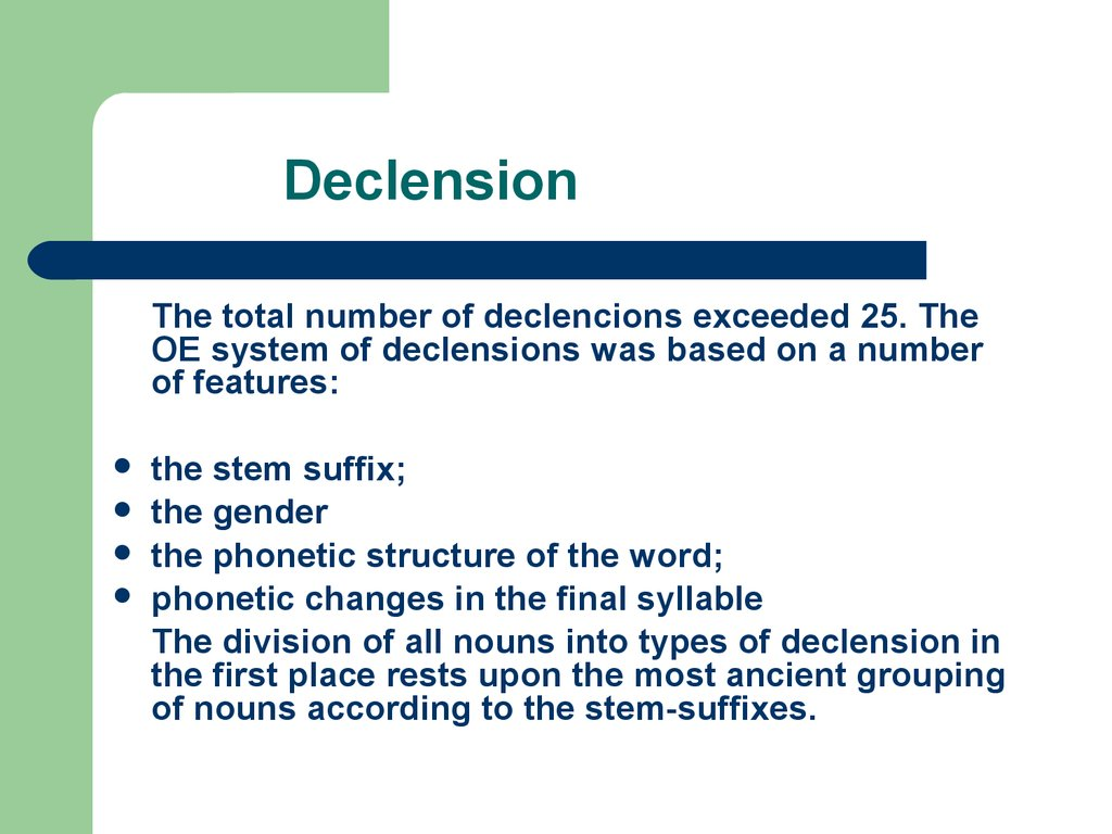 Declension