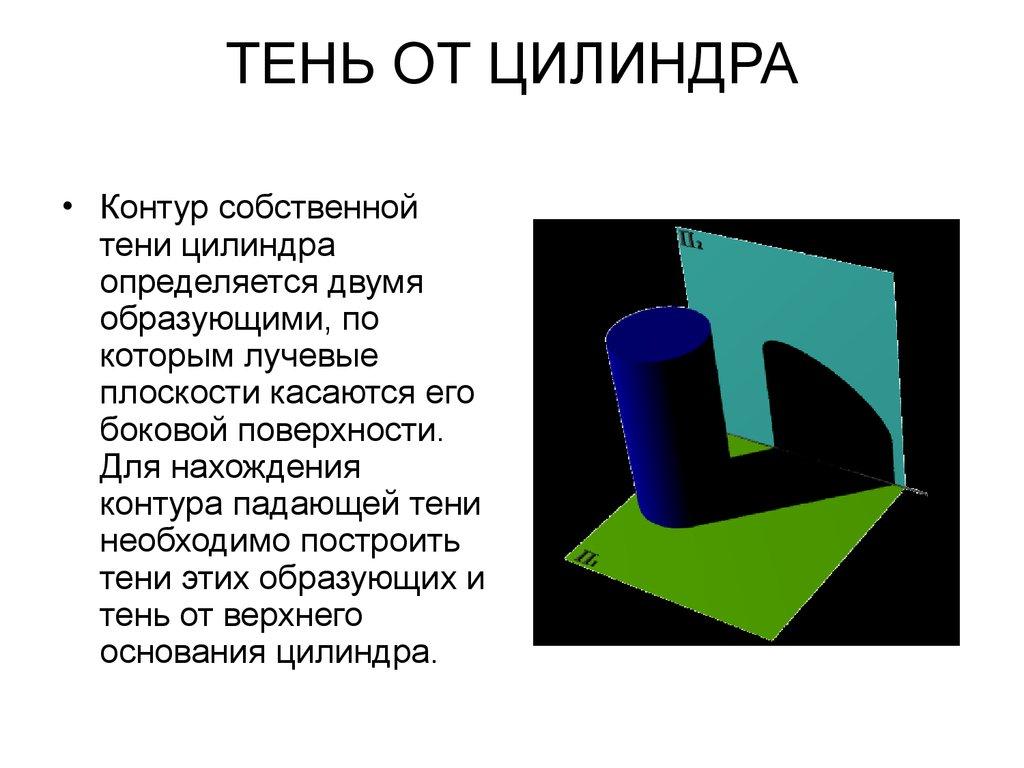 Тени в ортогональных проекциях и перспективе  Студопедия
