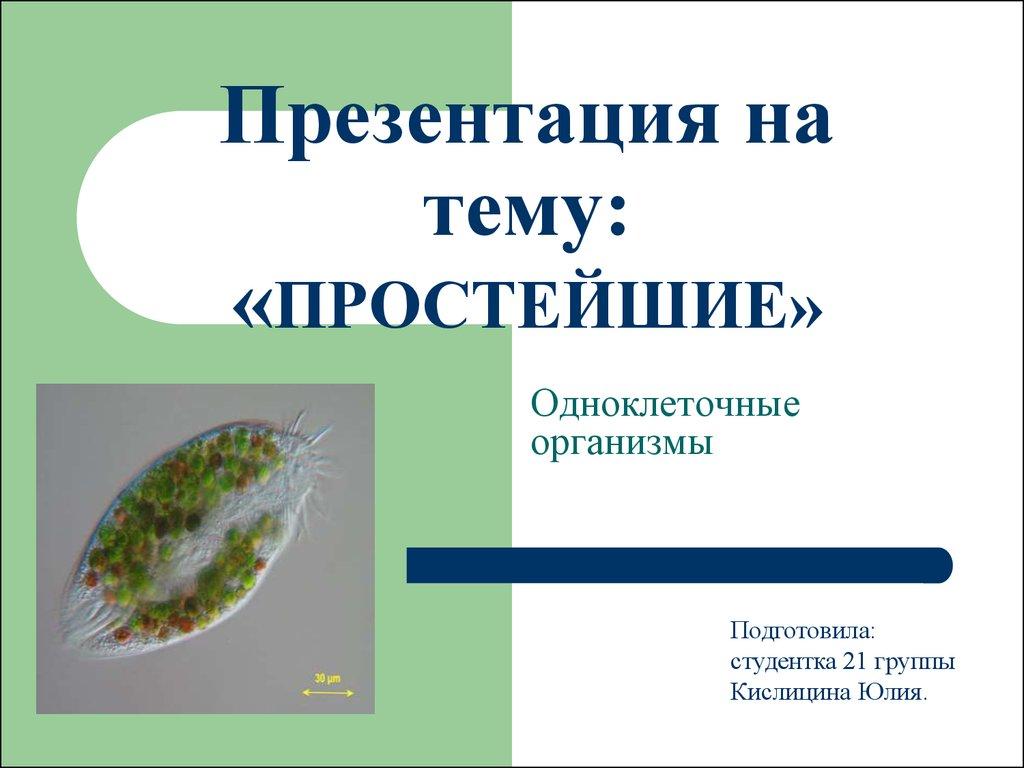 одноклеточные организмы паразиты