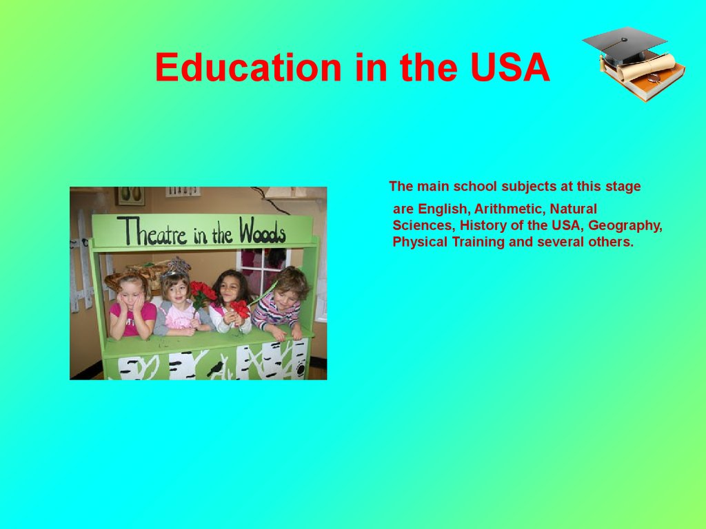 Education system in the USA topic